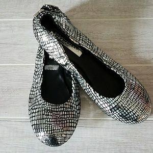BCBGMaxazria Molly Metallic Ballet Flats